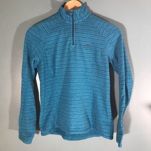 The North Face 3/4 zip pullover teal blue green xs